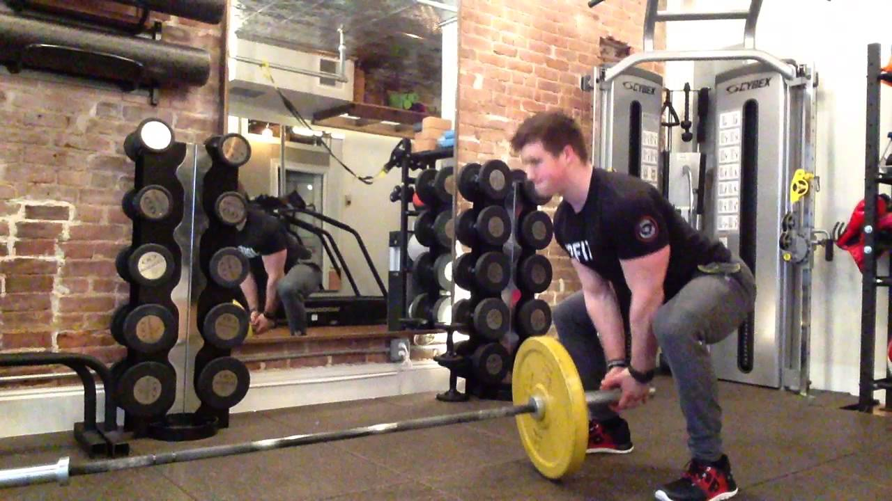 Barbell Landmine Sumo Deadlift - YouTube