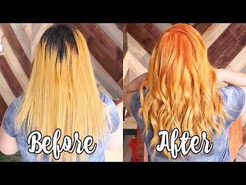 Orange Hair Transformation