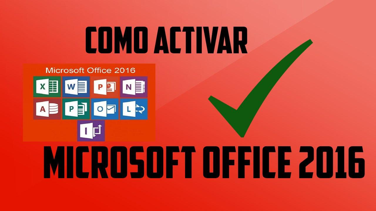 activar office 2016 youtube