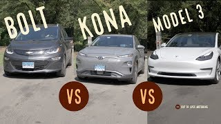 Comparison | Bolt vs Kona vs Model 3