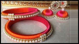Silk Thread Bangles Making    Silk Thread Jewelry Making