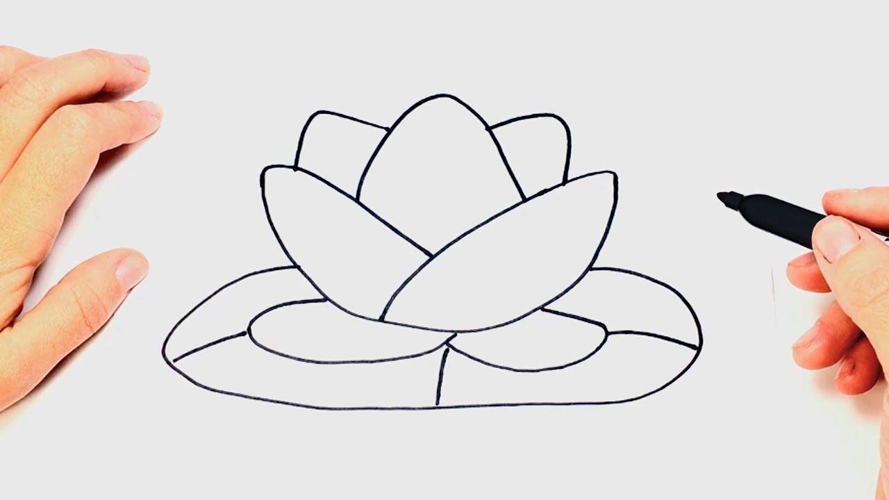 Como Dibujar Una Flor De Loto Paso A Paso Youtube