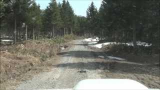 ジムニー で林道を走るとオジサンがいた。 Reckless driving thumbnail