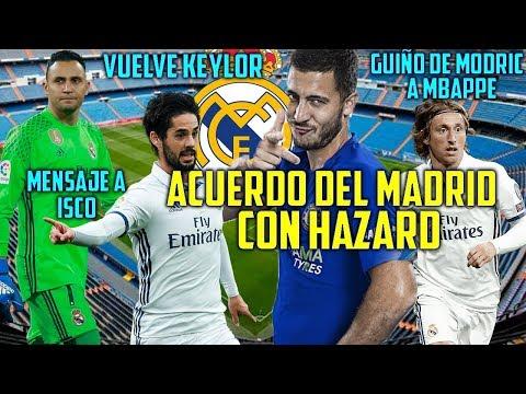 ACUERDO HAZARD REAL MADRID | GUIÑO DE MODRIC A MBAPPE | MENSAJE DE SOLARI A ISCO