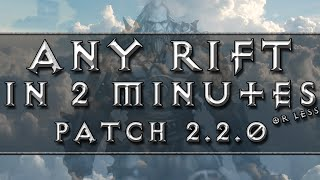diablo 3 barbarian gameplay any rift in 2 minutes or less ros patch 2 2 0