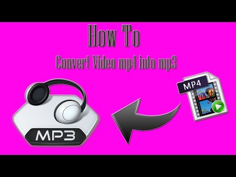 How to Convert Video mp4 into mp3 work 100% !!!!