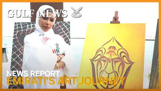 An Emirati's fascinating ideas depicted in art