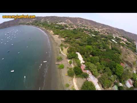 Aerial video of Playas del Coco, Costa Rica