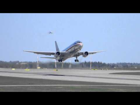 American Airlines Boeing 767-300ER Takeoff At Helsinki Airport