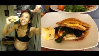 Ketogenic Diet:  Egg/sausage/bread   Mcmuffin Style Breakfast By Stephanie Person
