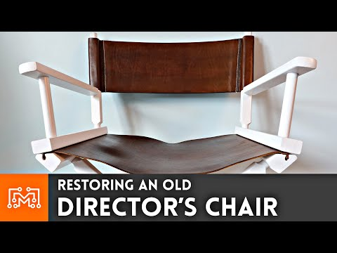Restoring an Old Director's Chair // Leather Working