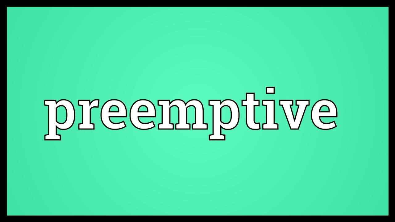 preemptive meaning in hindi
