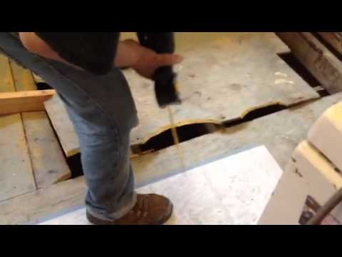 How To Remove A Sub Floor Youtube