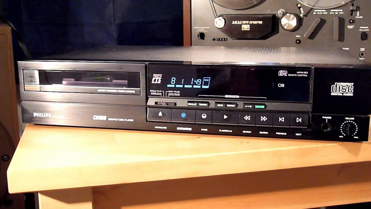 1985 Philips Cd Player Cd650 Plays Grace Jones - Slave To The Rhythm