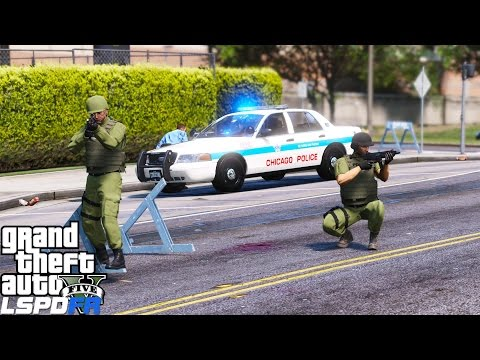 GTA 5 LSPDFR Mod 334 | Chicago Police Department First Person View Patrol | Attacked Police Station