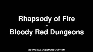 Rhapsody of Fire - Bloody Red Dungeons W/ MP3 DOWNLOAD