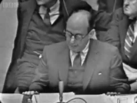 U.S. ambassador Adlai Stevenson at the UN 1962 Cuban Missile Crisis