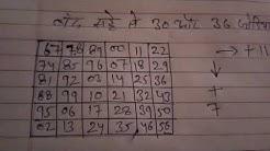 30 और 36 जोड़ी बनाने का आसान तरीका | Satta king desawar |satta king record chart result gali