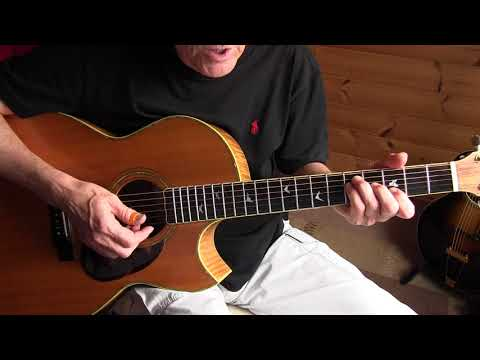 Acoustic Blues Lesson - Lonnie Johnson -  Too Late To Cry