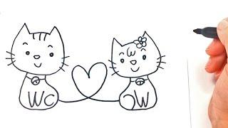 Cómo dibujar unos Enamorados paso a paso | Dibujo fácil de Enamorados
