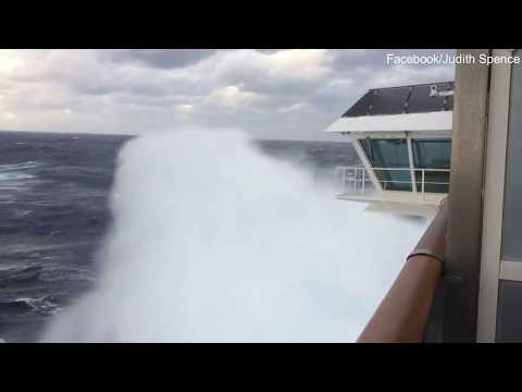 Carnival Spirit cruise ship struck by 100km/h winds with over 2000 passengers on board
