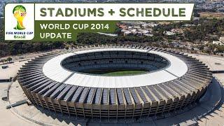 Video FIFA World Cup 2014 Brazil - All Stadiums + Schedule (HD) download MP3, 3GP, MP4, WEBM, AVI, FLV Agustus 2017