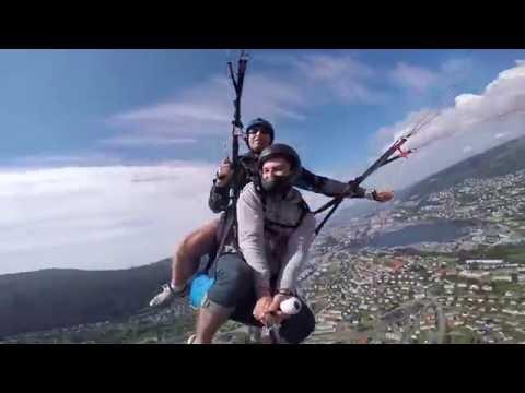 Paragliding from Ulriken ( Bergen, Norway)