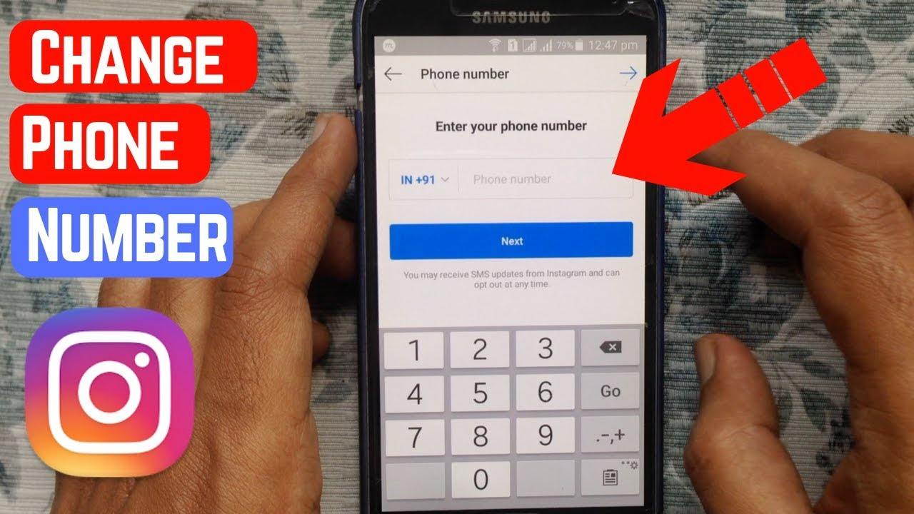 How to change the verification number on instagram
