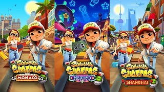 Subway Surfers Gameplay - Mexico vs Shanghai vs Monaco - World Tour