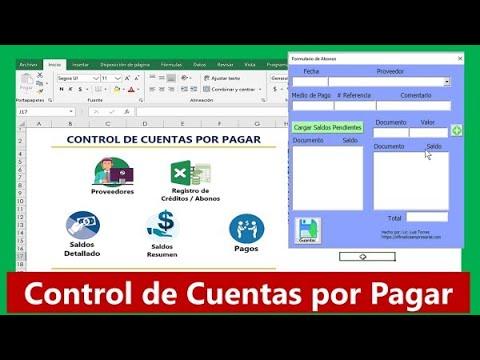 Plantilla Cuentas Por Pagar Excel Gratis Control De Cuentas Por Pagar A Proveedores Contabilidad Youtube