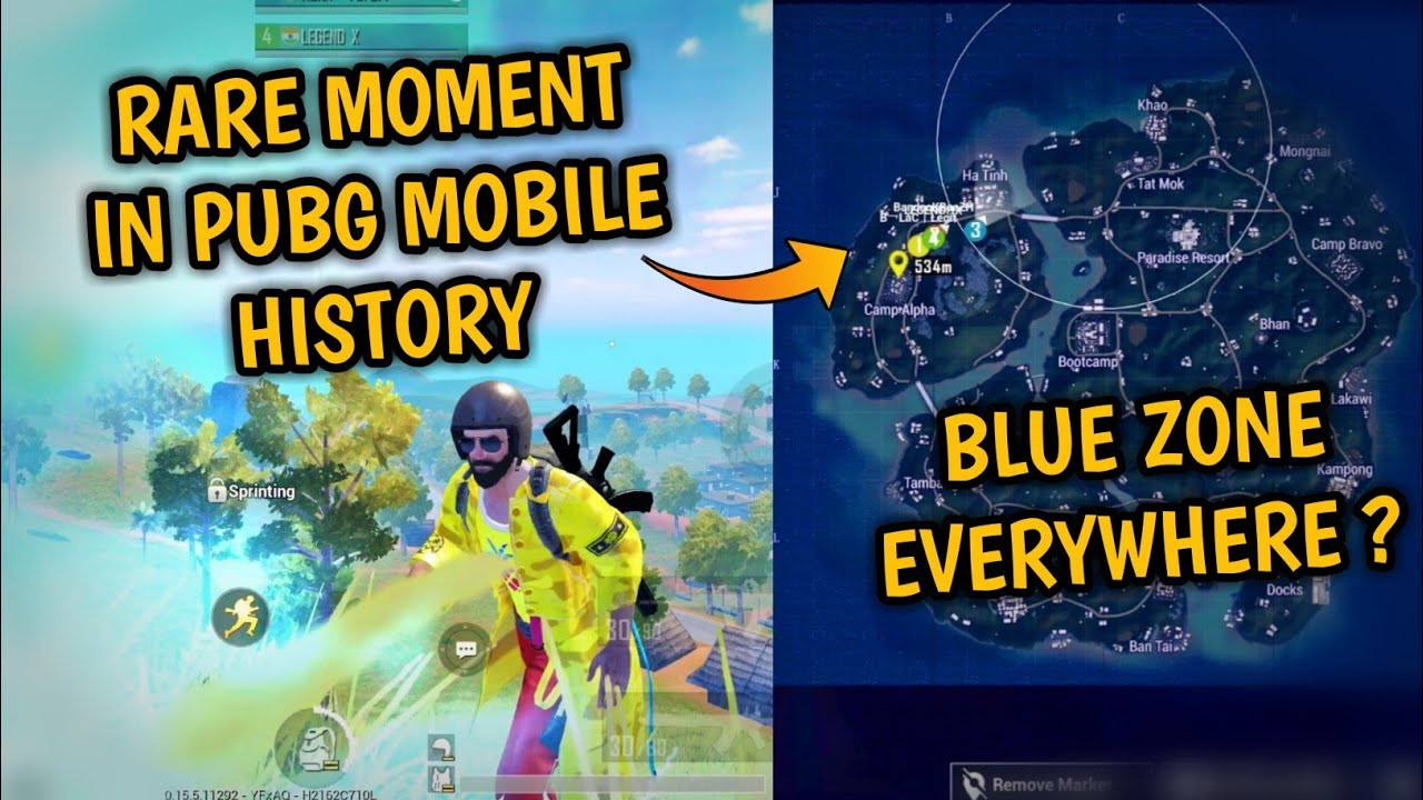 😲Most Epic and Rarest blue zone happened in custom room – ft. Gamexpro – Pubg mobile Hindi Gameplay
