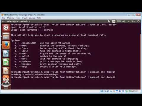 Using OpenSSL to encrypt and decrypt messages on Ubuntu Linux By Asim Iqbal
