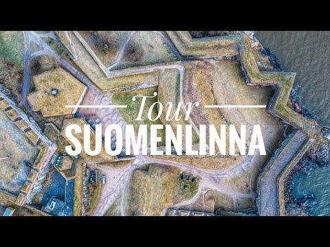 Suomenlinna Sea Fortress, Helsinki (4K Aerial Video)
