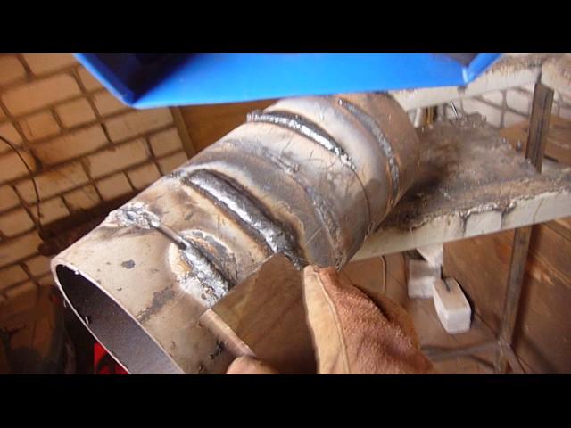 Сварка бесповоротных труб рутиловыми электродами без отрыва