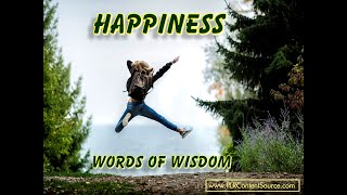 Happiness Words of Wisdom
