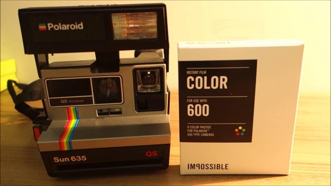 Polaroid 600 - Sun 635 - Loading Impossible Project Film
