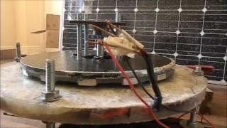 OFF GRID VAWT wind turbine 24V Alternator Testing