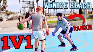 Playing Random People 1v1 At Venice Beach!