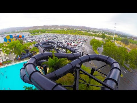 [4k] Black Snake Tubes Sidewinder - Six Flags Hurricane Harbor (Los Angeles, California)