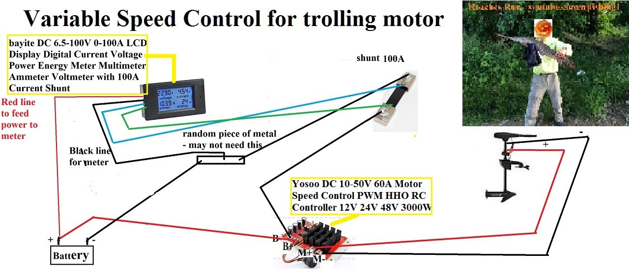 How to build a variable speed controller for trolling motor? aka