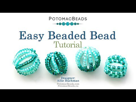 Easy Beaded Bead - DIY Jewelry Making Tutorial by PotomacBeads