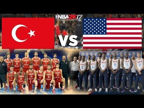 Türkiye vs ABD Basketbol Maçı ! Turkey vs USA PS4 NBA 2K17 (Türkçe Anlatım, HD60 FPS)
