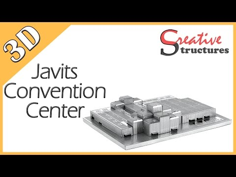 3D metal model & puzzle - Javits Convention Center (United States Architecture)