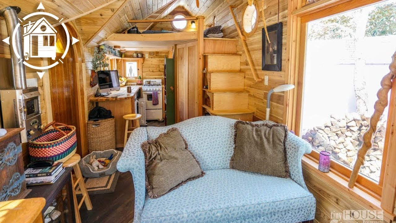 Her Whimsical Tiny House Looks Like A Fairytale Youtube
