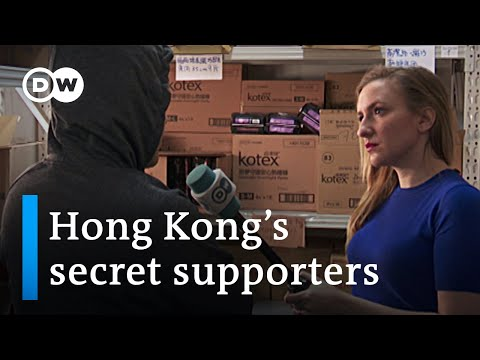 How Hong Kong's frontline protesters are backed by anonymous supporters | DW News