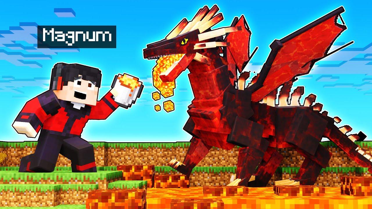 ENCONTRÉ AL DRAGON DE LAVA!! 🐲🔥   Minecraft
