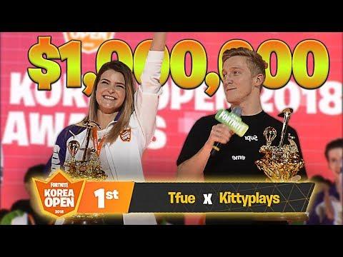 WE WON THE $1,000,000 FORTNITE KOREA OPEN TOURNAMENT! ft. Tfue | KittyPlays