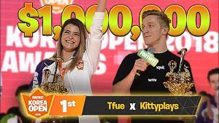 WE WON THE $1,000,000 FORTNITE KOREA OPEN TOURNAMENT! ft. Tfue | KittyPlays