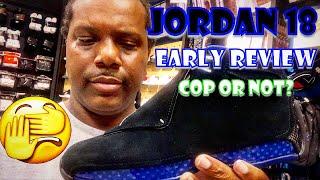 Air Jordan 18 Black Sport Royal Early Review! (Watch Before You Buy!)
