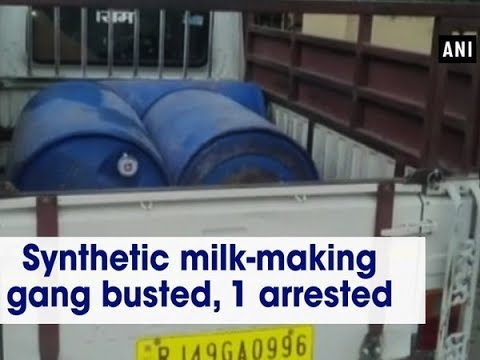 Synthetic milk-making gang busted, 1 arrested - Rajasthan News